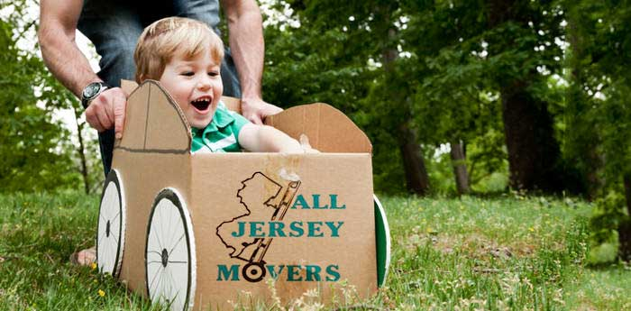 All Jersey Moving and Storage - Picture of a boy playing in a box