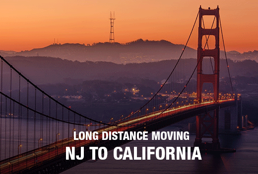 Move To and From California With All Jersey Movers