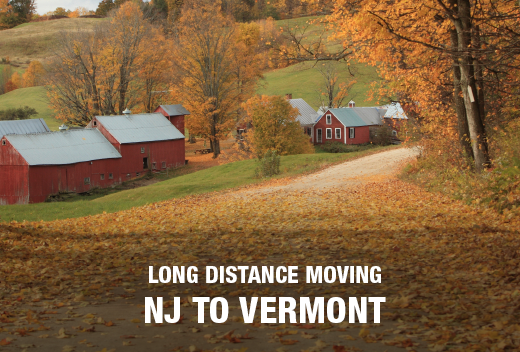 Make a Long Distance Move From New Jersey To Vermont