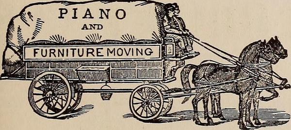 Horse Drawn Piano Mover