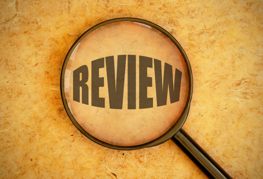 Review with magnifying glass
