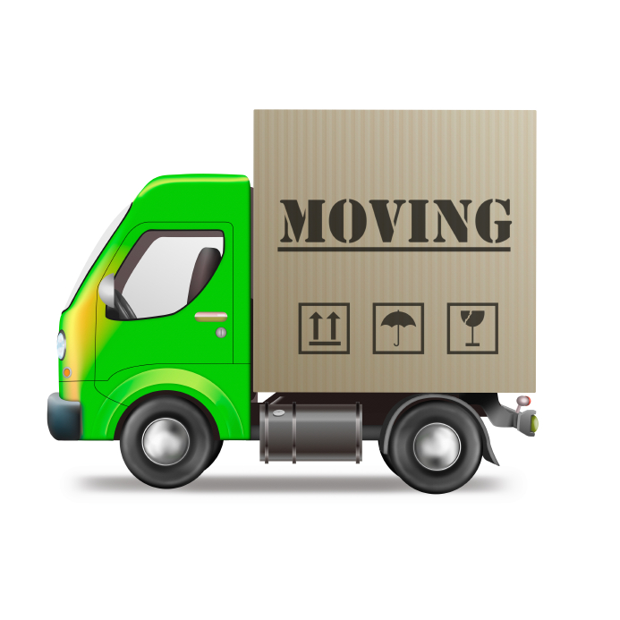 Moving Truck with Box
